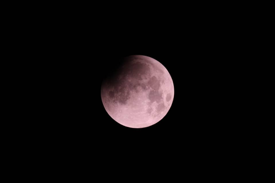 Start of the total lunar eclipse - 28 Sep 2015
