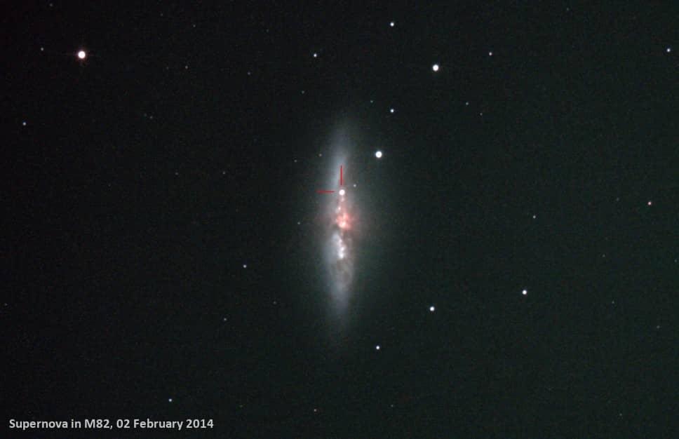 M82 with Supernova