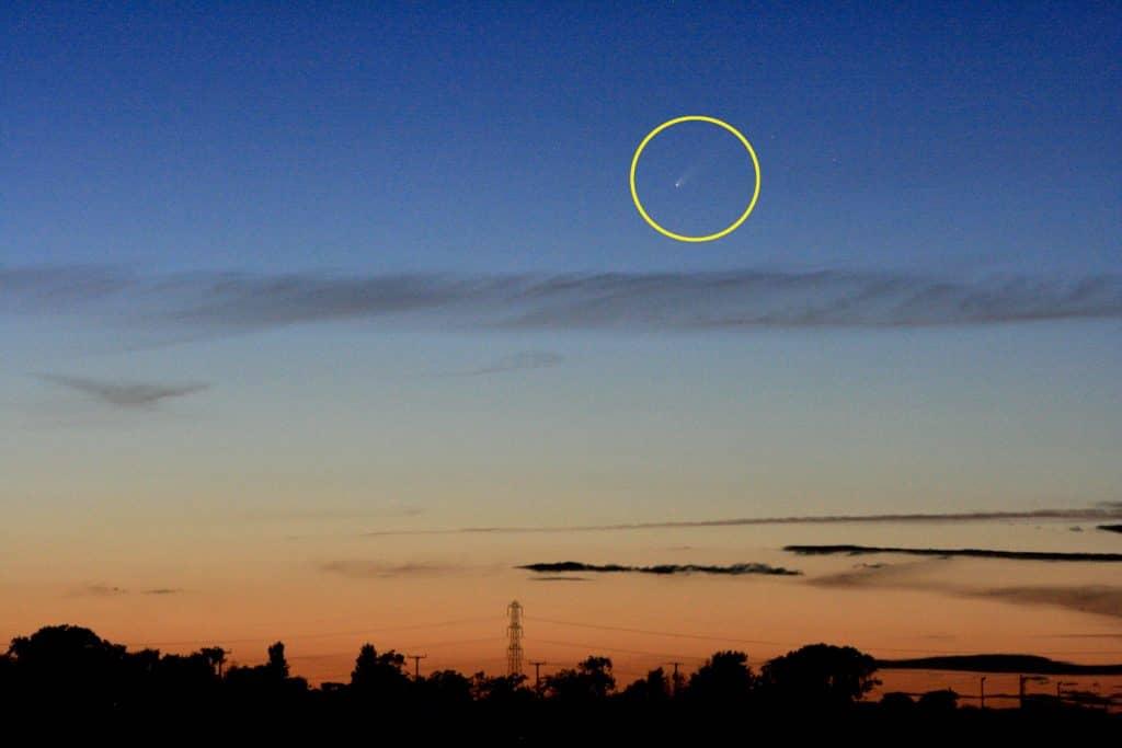 Comet C/2020 F3 Neowise in twilight